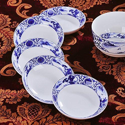 Chinese Jingdezhen Bone China Sauce Dessert Plate Dish 3.5-Inch Small Size,Set of 4 Plates (Style 2)