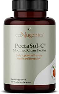 ecoNugenics – PectaSol-C Modified Citrus Pectin – 270 Capsules | Professionally Formulated to Help Maintain Healthy Galectin-3 Levels | Supports Cellular & Immune System Health | Safe & Natural