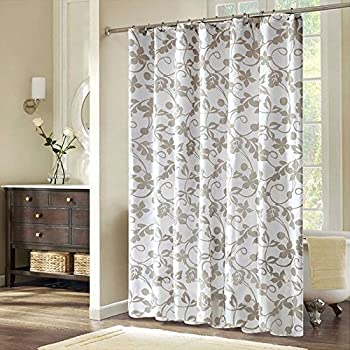 Extra Long Shower Curtain Fabric, Water Proof And Mildew Resistant Shower  Curtain With Metal Grommets