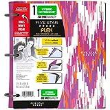 """Five Star NoteBinder, 1"""" 3 Ring Binder, Flex Style Hybrid, 200 Sheet, 11-1/2"""" x 10-3/4"""", Chevron Design (73848)"""
