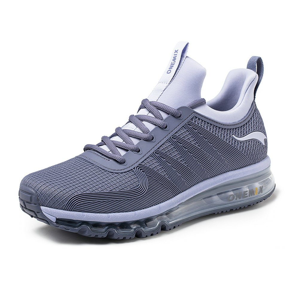 ONEMIX Air Cushion Sports Running Casual Walking Sneakers Shoes for Men and Women B079KZP1PX 12 D(M) US 11.41 inch=EUR46|Darksilver