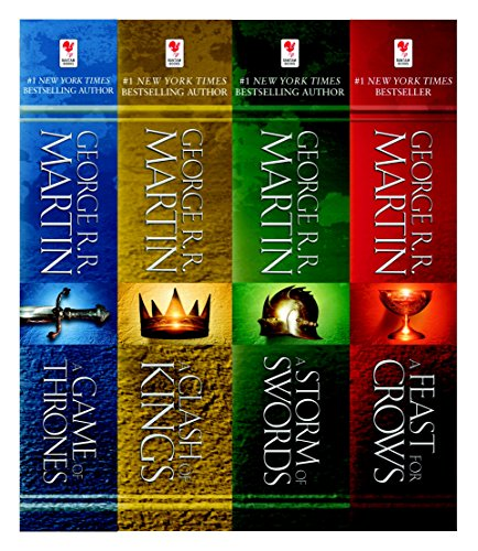 A Game of Thrones 4-Book Bundle: A Song of Ice and Fire Series: A Game of Thrones, A Clash of Kings, A Storm of Swords, and A Feast for - Game A Series Thrones Of