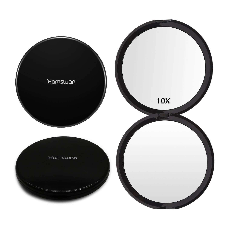 Specchio Trucco, HAMSWAN Specchio da Trucco Illuminato, Specchio LED Pieghevole Che Consente 180 Gradi di Rotazione, è capace di Ingrandire 1X, 2X e 3X. Migliora la Sua Bellezza Velocemente. è capace di Ingrandire 1X SM217-DL-CW-EU