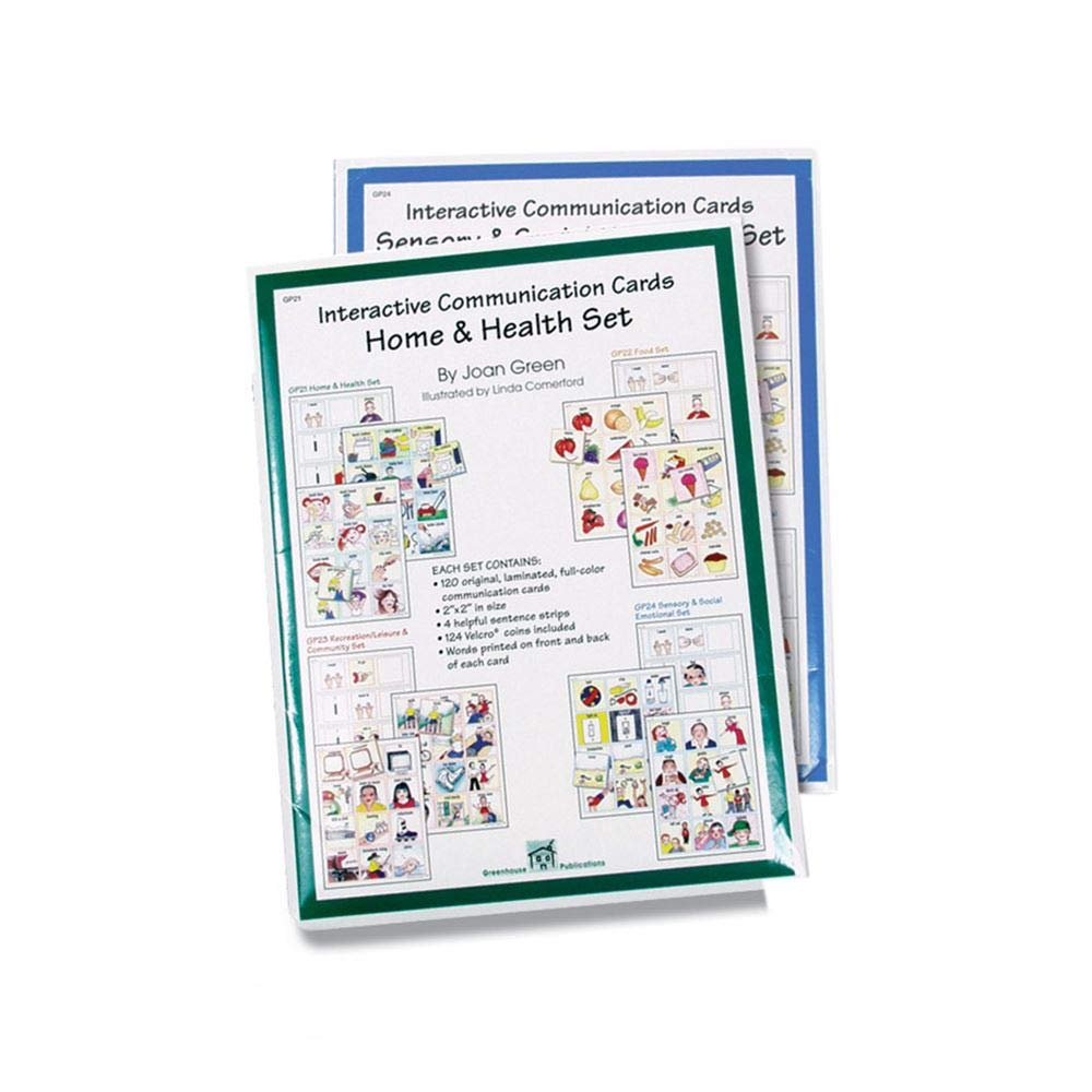 Interactive Communication Cards: Home and Health Set by AliMed
