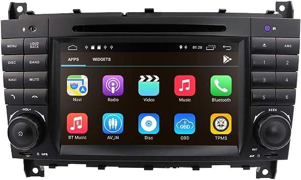 Android 10 estéreo de audio de coche para Mercedes Benz W203 W209 ...