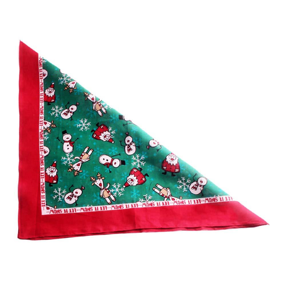 Wudi Cotton Dog Bandana Foulard Noël Paquet Triangle écossais Bibs Petite à Grande Impression de Chien Kit de Collection 55 * 55cm Drapeau américain.