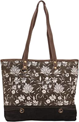 Amazon Com Myra Bag Dawn Upcycled Canvas Leather Tote Bag S 1443 Shoes Black friday black usb charger 2020 mobile phone accessories battery car charger 50w 6 port usb charger car black friday. myra bag dawn upcycled canvas leather tote bag s 1443