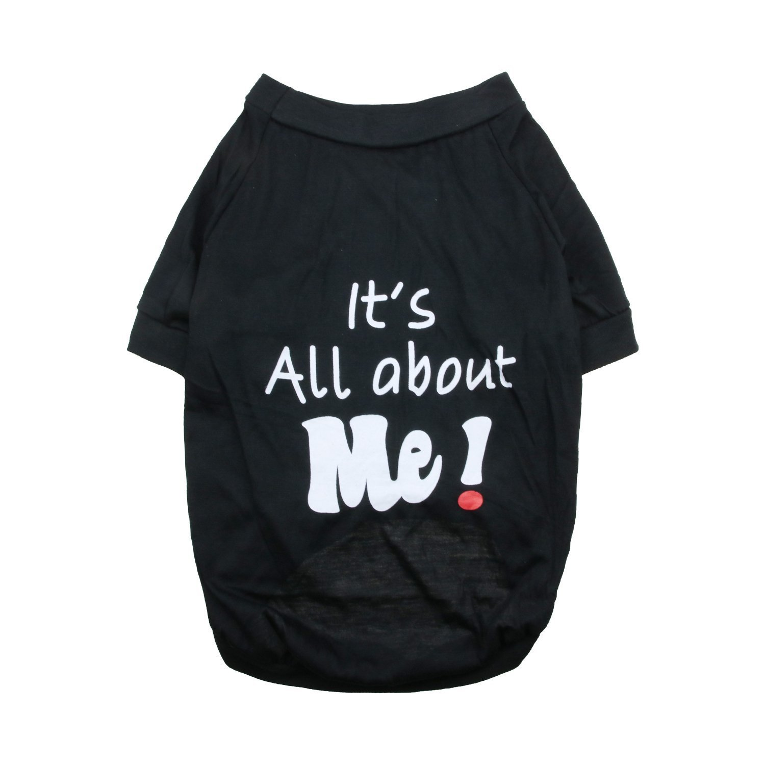 DroolingDog Pet Dog Clothes Cat Apparel「It's All About ME」Costume Tee Shirt for Medium Large Dogs, 2X-Large, Black