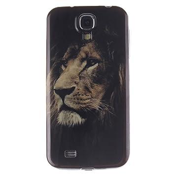 Guran® Silicona Funda Carcasa para Samsung Galaxy S4 (I9505) Smartphone Case Bumper Shock TPU Cover-León
