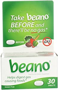 Beano Food Enzyme Dietary Supplement- 30 Tablets, Pack of 6