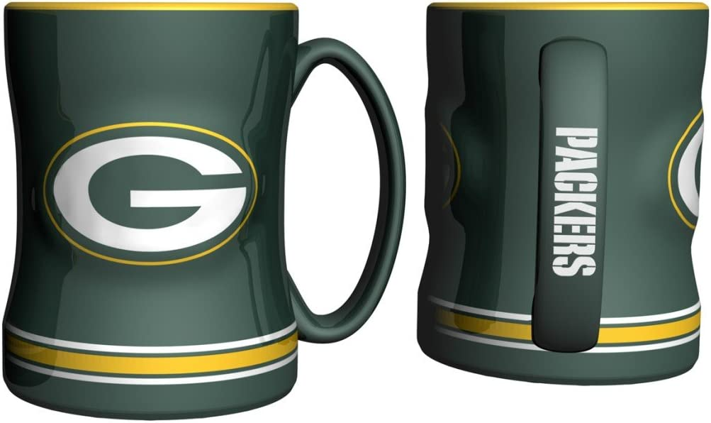 Green Bay Packers Coffee Mug 15oz Sculpted