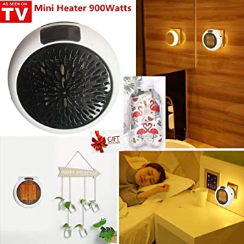 Nifogo Mini Heater - Estufa Eléctrica Portátil de Bajo Consumo, 900 W con Enchufe Eléctrico, Ajustable de 15 a 32 °, Ideal para Hogar Oficina BañO (Blanco): ...