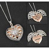 Equilibrium Ladies Vibrant Thistle Heart Long Pendant Necklace b5rcJGxkmE