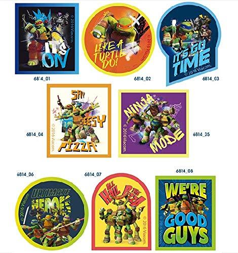 8 parches tortugas ninja heroes serigrafiados para planchar ...