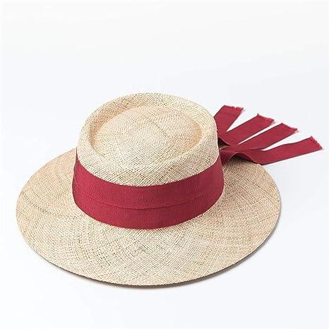CJY-GO Sombrero de Sol para Mujer con Cinta de Bowknot - Sombreros ...