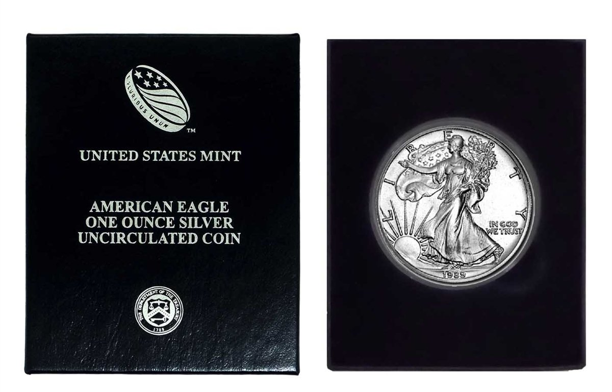 Mint Gift Box 1989 American Silver Eagle in U.S