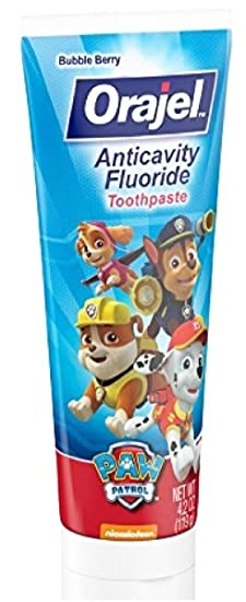Amazon.com: Paw Patrol Marshall Toothbrush & Toothpaste Bundle; 3 Items: Spinbrush Toothbrush, Orajel Bubble Berry Toothpaste, Marshall Kids Rinse Cup: ...