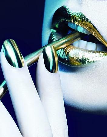 Amazon Designer Nail Wraps By Nail Rock Metallic Gold Nail