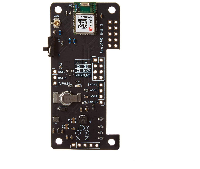 BerryGPS-IMUv3 - GPS and 10DOF for The Raspberry Pi - Accelerometer, Gyroscope, Magnetometer and Barometric/Altitude Sensor by Ozzmaker