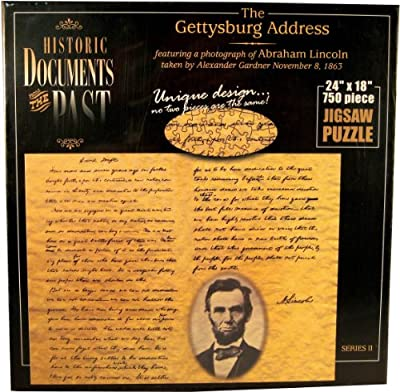 American Documents The Gettysburg Address Jigsaw Puzzle (750-Piece)