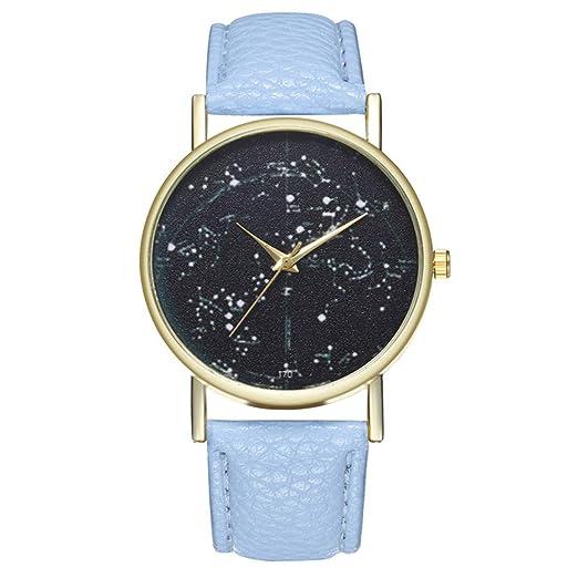 Reloj de Cuarzo para Adolescentes, Estudiantes, Planeta, Cortex, Color Azul Claro: Amazon.es: Relojes