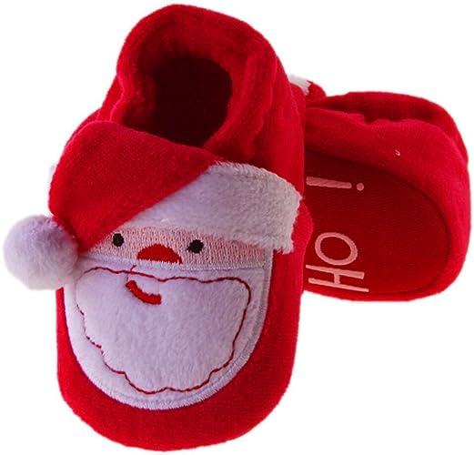 Newborn Toddler Kid Baby Warm Indoor Shoes Boys Girls Cartoon Christmas Slippers