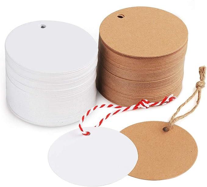 100 STÜCKE Brief Frohe Weihnachten Kraftpapier Geschenkanhänger mit Jutesch  SP