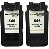 Ink Jungle PG-545 Black & CL-546 Colour Remanufactured Ink Cartridge For Canon PIXMA MG2450 Inkjet Printers