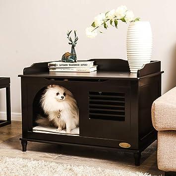 HQQ Caseta Interior de Madera Cuatro Estaciones Muebles universales Cama para Mascotas Arena para Gatos Perro pequeño (Color : Negro): Amazon.es: Hogar