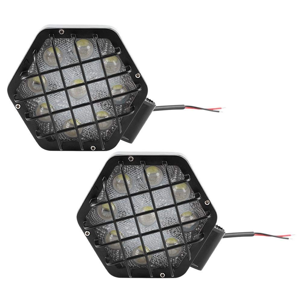 Duokon 2Pcs 27W Black LED Light Car Work Lamp with Safety Net For Engineering Vehicle Truck