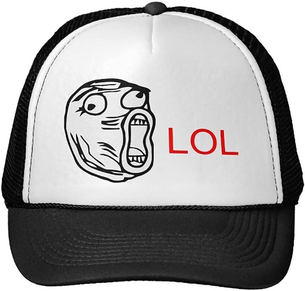 Smity 106 LOL Meme Trucker Hat Black
