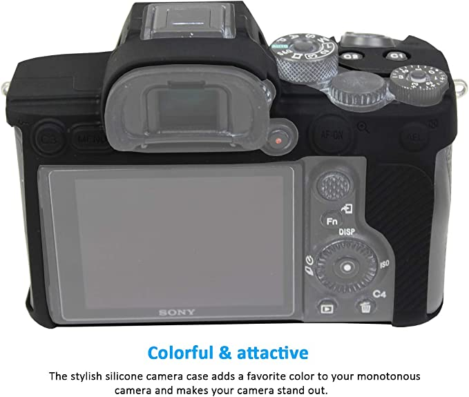 Easy Hood Schutzhülle Für Sony Alpha 7r Iv A7r Iv A7riv A7rm4 Ilce 7rm4 Digitalkamera Kratzfest Aus Weichem Silikon Und Gummi Schwarz Elektronik