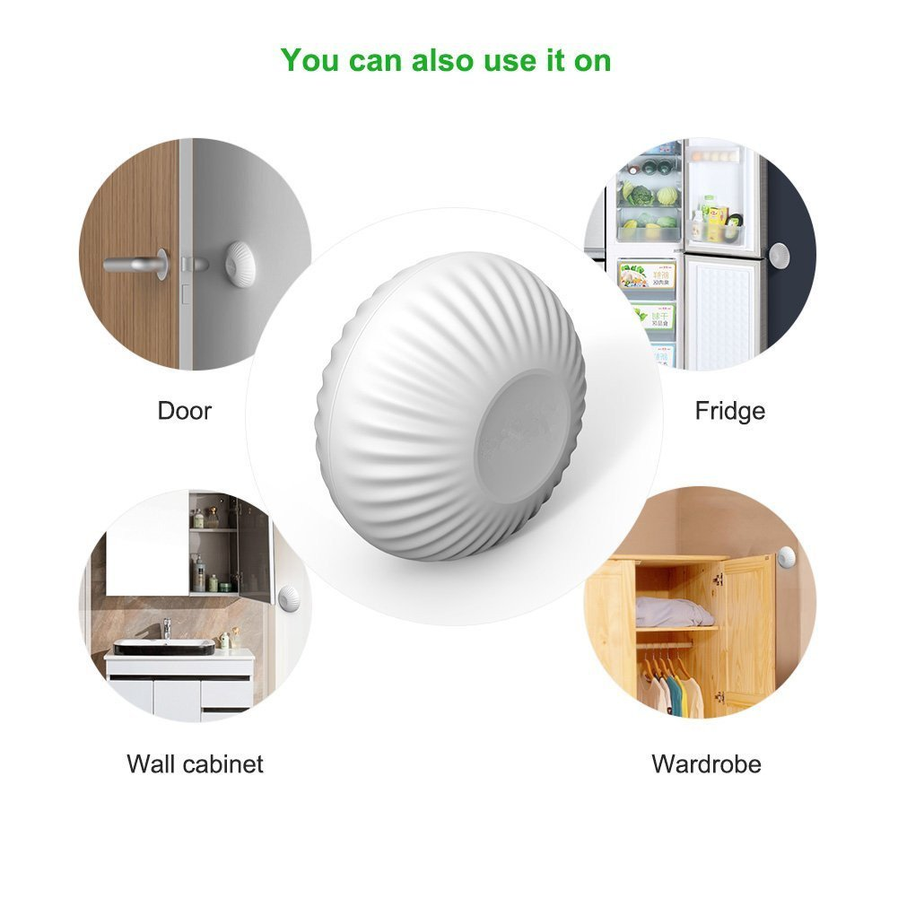 Door Knob Stopper 6 Pcs,Cheaboom Silicone Round Wall Protector Self Adhesive Wall Guards Stopper Door Handle Bumper Rubber Stop (White) by Cheaboom (Image #6)