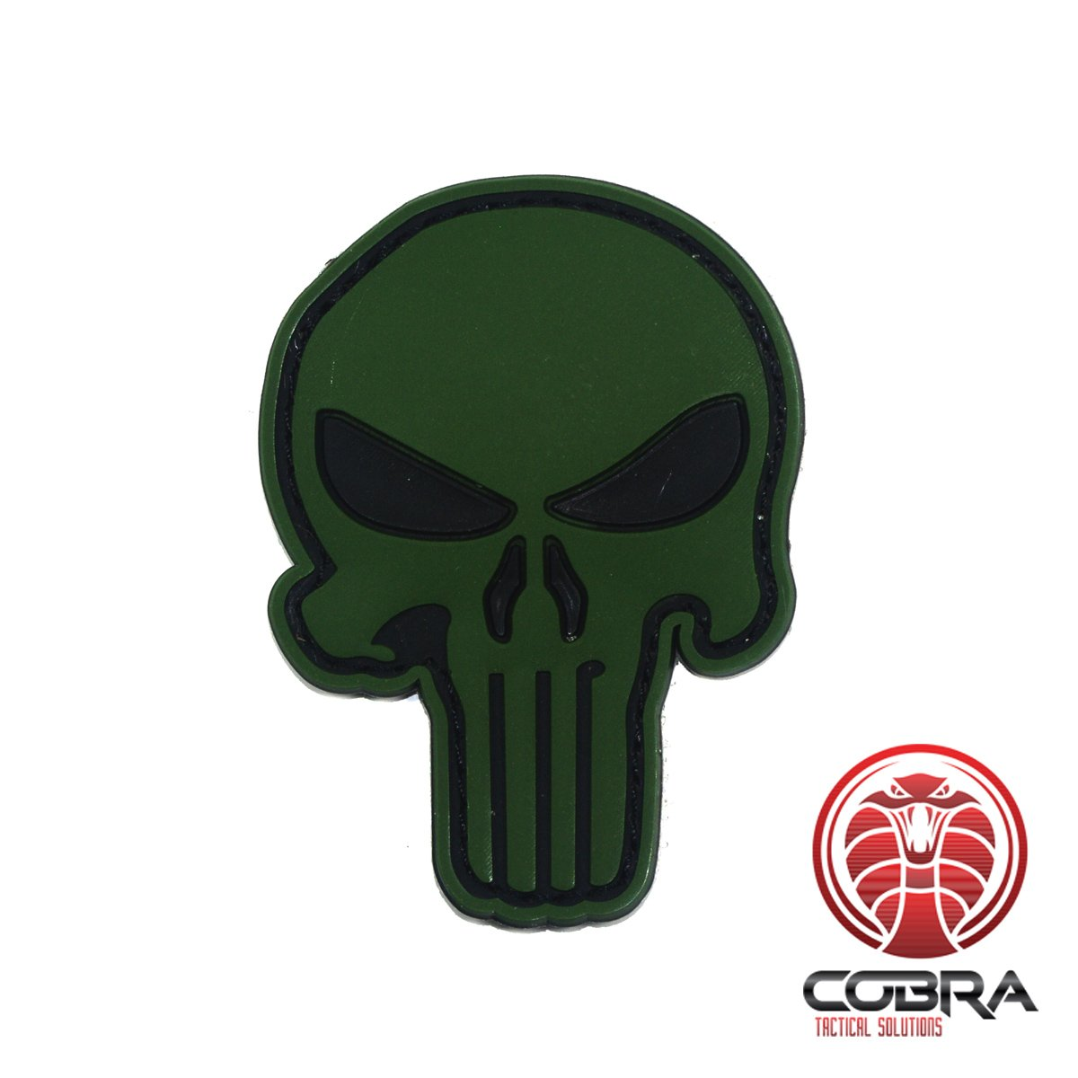 Cobra Tactical Solutions 3D Patch Punisher in PVC Verde Airsoft Cosplay Toppa