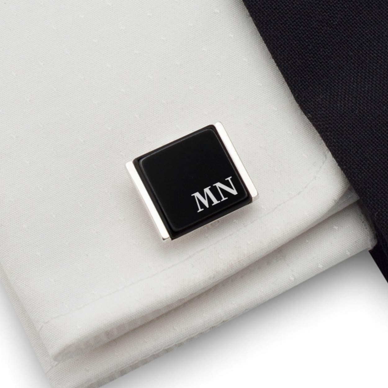 925 Solid Sterling Silver Natural Black Onyx Gemstone Cufflinks Black Onyx Gemstone Handmade Men/'s Cufflinks Jewelry Beautiful Gift