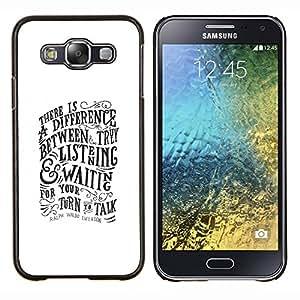 EJOOY---Cubierta de la caja de protección para la piel dura ** Samsung Galaxy E5 E500 ** --Escuchar Hablar de motivación inspiradora