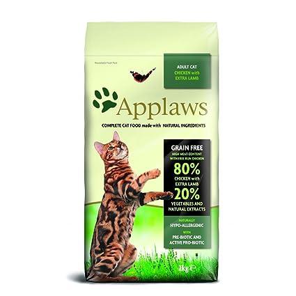 Applaws - Pienso seco anti-bolas de pelo para gatos (2kg/Pollo y