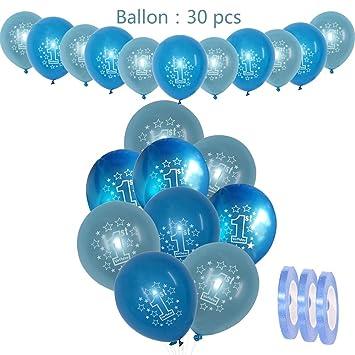 30 piezas de decoraciones de cumpleaños para niños Globos de ...