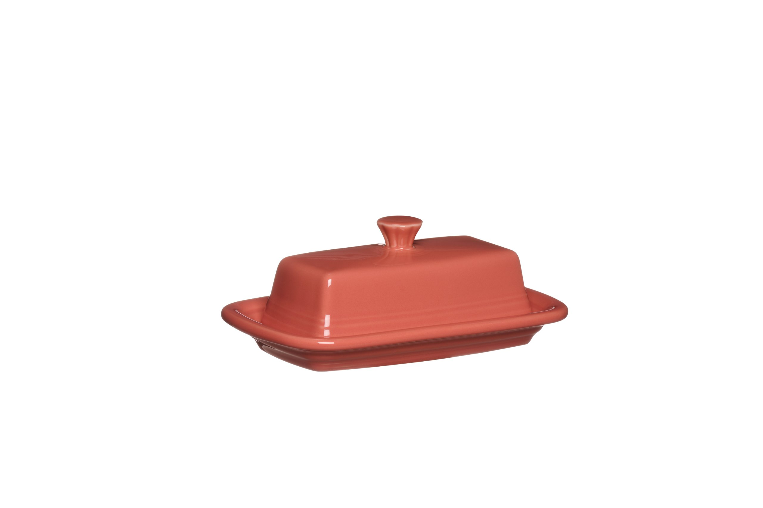 Fiesta Covered Butter Dish, X-Large, Flamingo