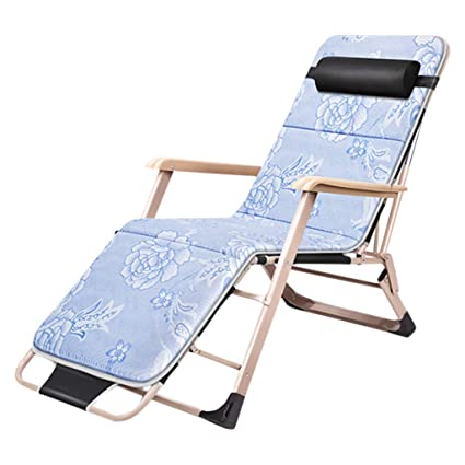 40486ae12630 Amazon.com : Lounge Chair Nap Bed Chair Folding Adult Multi-Function Summer Portable  Home Lazy Cool Chair HUYP : Garden & Outdoor