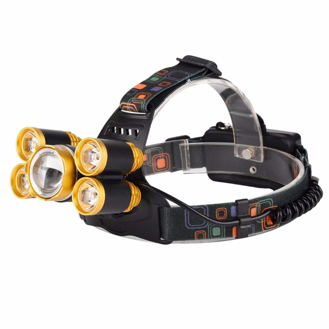 Ai.Moichien 5000 Lumens Headlamp LED Hands Free Headlight Waterproof Hard Lumen Bright Head Lights, Running or Camping Light