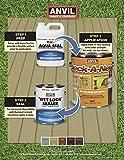 Anvil Deck-A-New Resurfacer Paint, Restores Wood Decks, Porches, Concrete Patios & Pool Decks, Premium Textured, 5 Slip Resistant Colors Available - Butternut, 1 Gallon