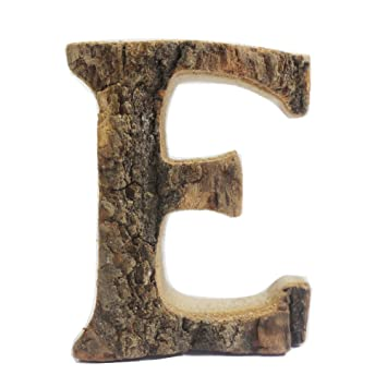 Vintage Wood Alphabet Letter Wall Sign Wall Decor Wooden Letter U0027Eu0027 Hanging  Sign For