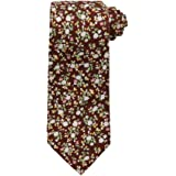 Dan Smith Men's Fashion Cotton Tie Matching Hanky Avaliable, with Free Gift Box
