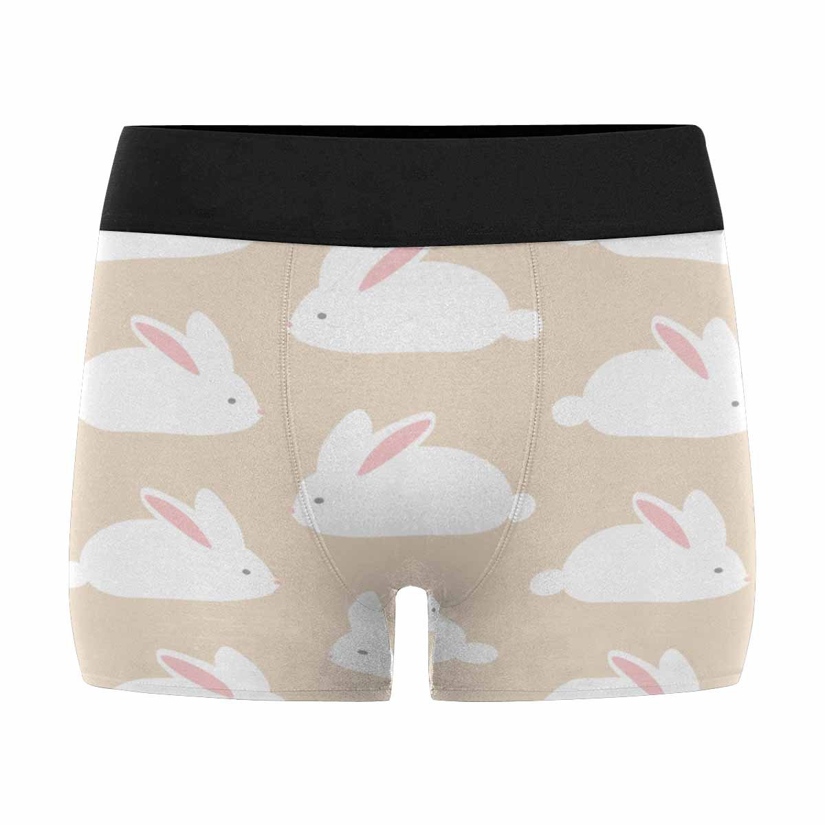 XS-3XL INTERESTPRINT Custom Mens Boxer Briefs Cute White Rabbits