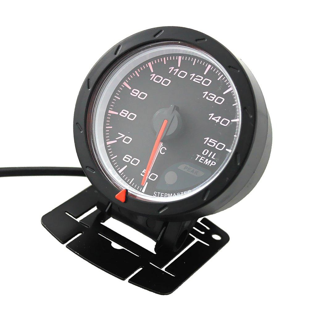 MagiDeal Misuratore Sensore Di Temperaura Olio Puntature Indicatore Per Automobile Universale 60mm