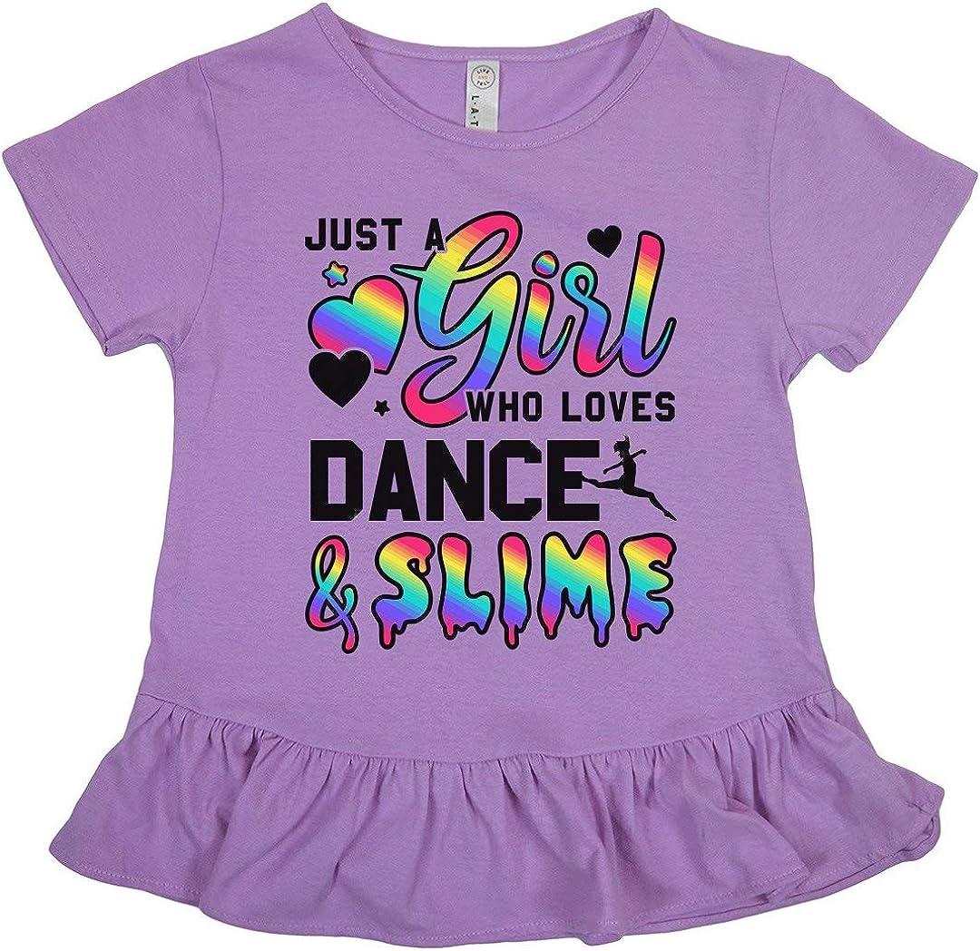 Girls LAT Ruffle Fine Jersey Tee Little Girls Dance Gift Love Slime