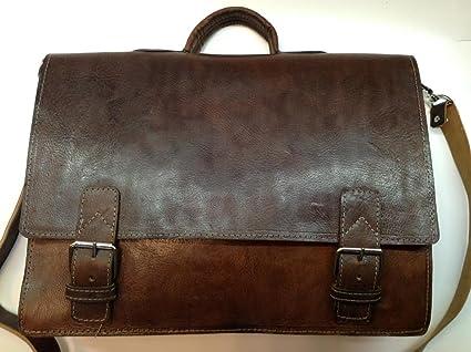 633e32c5d15e Image Unavailable. Image not available for. Color  Moroccan Design Brown Leather  Briefcase 17 quot  Laptop Case Messenger Bag