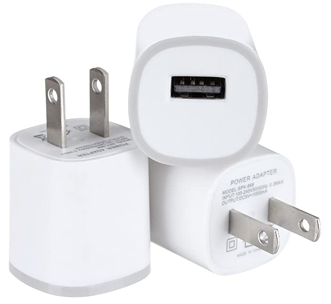 huge selection of 10e9d deb98 Spark Electronics Rapid Speed [Matte White] Tapered Universal USB Power  Adapter Wall Charger Compatible with Apple iPhone 7 7 Plus 6 6S Plus 5 s C  ...