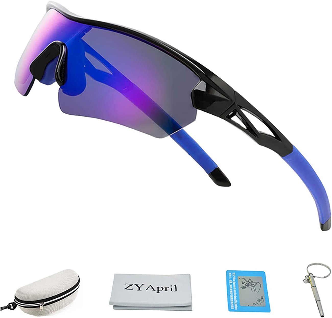 Cycling Driving Fishing climbing Golfing 100/% UV Protection Polarized Sports Sunglasses For Men